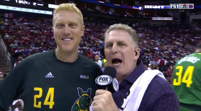 Brian Scalabrine threatened Michael Rapaport on live TV