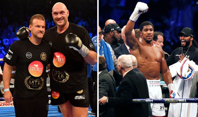 Anthony Joshua Will Not Fight Deontay Wilder Or Tyson Fury In April Trainer Reveals Why Boxing Sport Express Co Uk