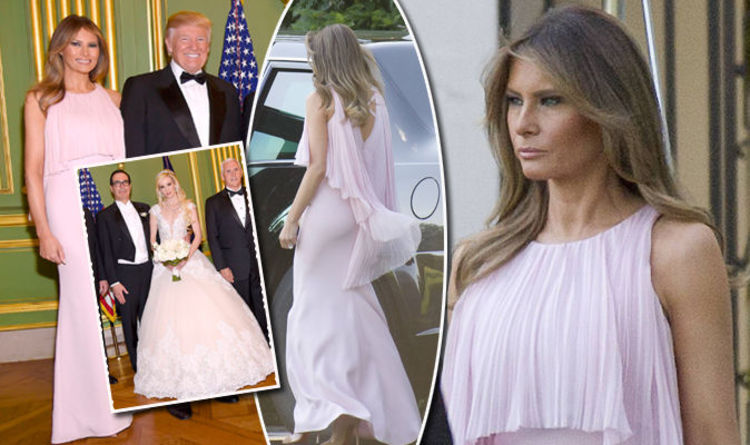 Melania Trump Upstages The Bride With Husband Donald At Steven