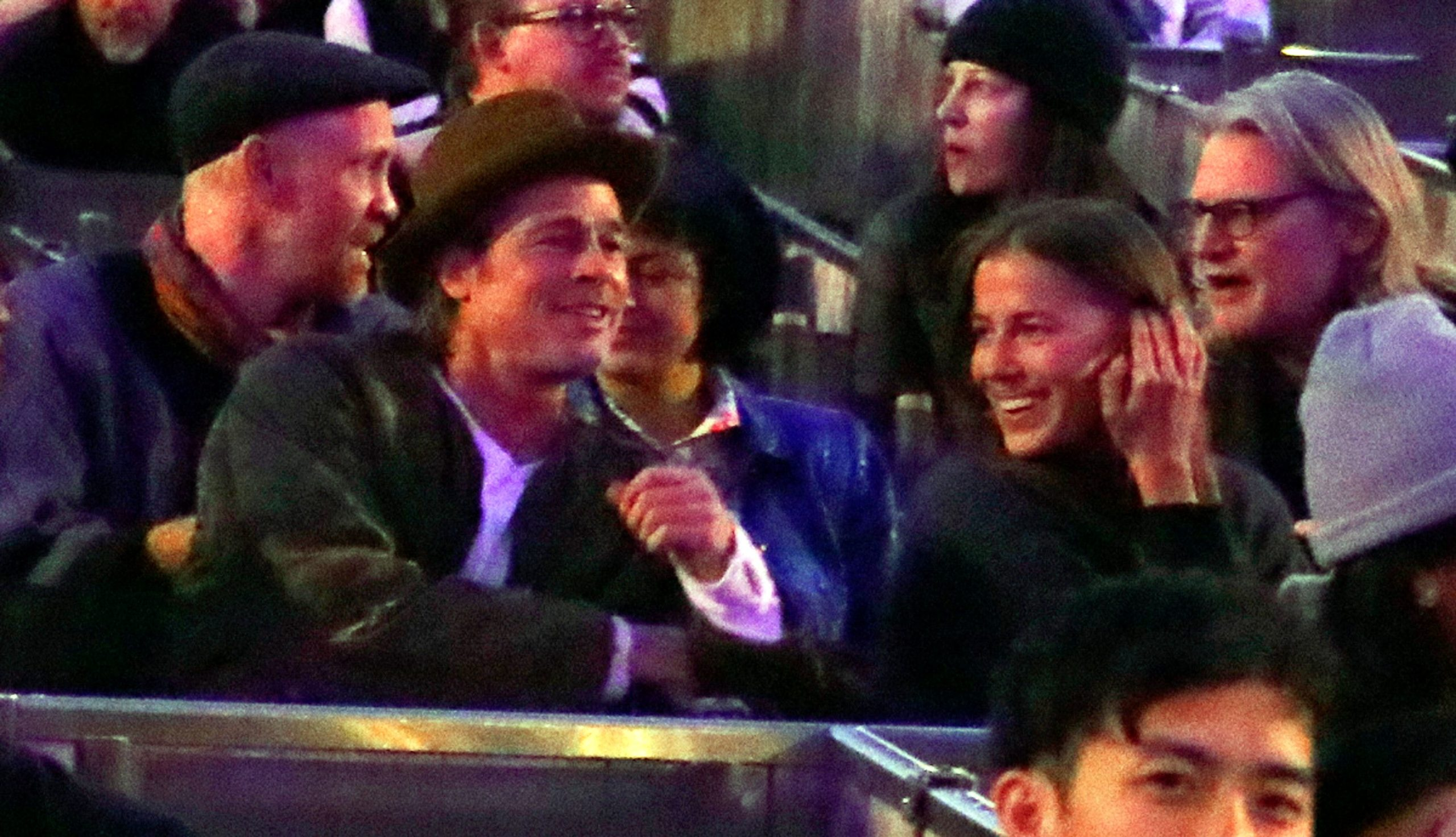 Brad Pitt And Nicole Poturalski Relationship Confirmed Daily Soap Dish