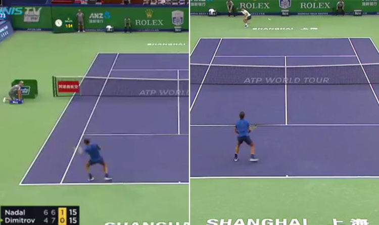 Rafael Nadal And Grigor Dimitrov In Stunning Rally Ends With The Shot Of Shanghai Masters Tennis Sport Express Co Uk