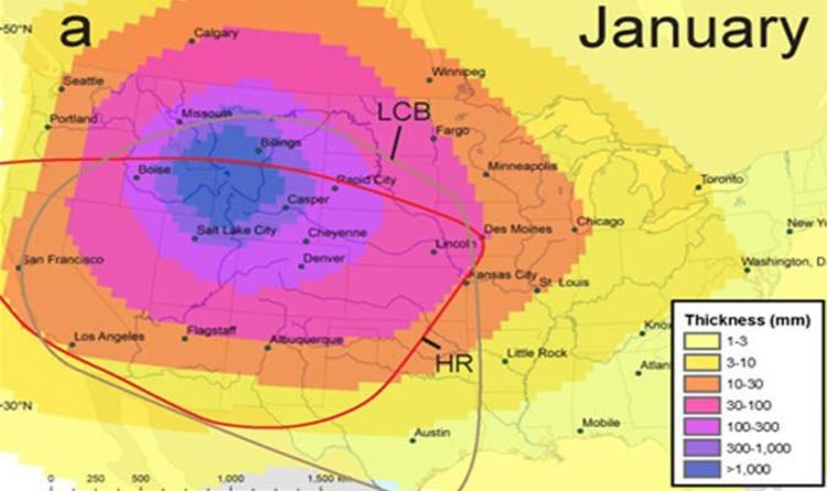 Yellowstone Volcano Eruption Map Nowhere Is Safe From Volcanic - Yellowstone-us-map