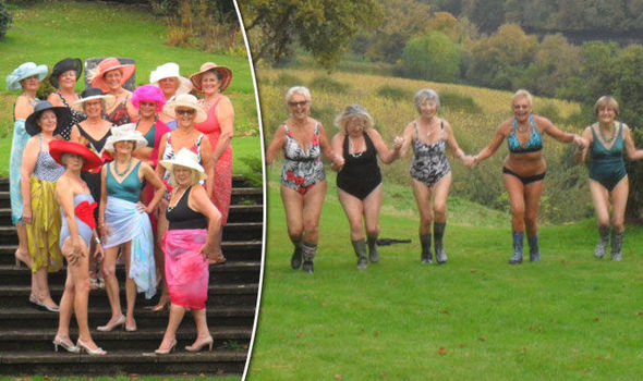 Naked grannies stripping