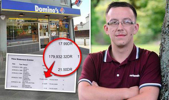 Teen Who Bought 17 99 Domino S Pizza Shocked To Find He Was Charged