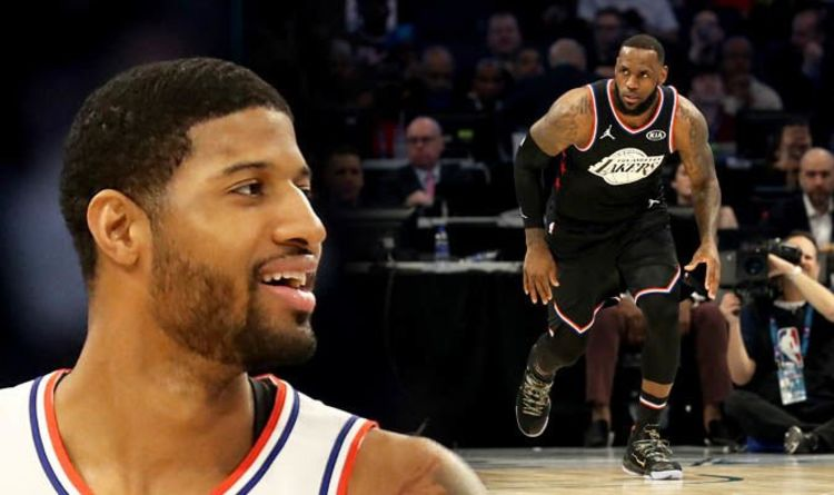 sports shoes 87dca b63fd LeBron James  Paul George makes bold claim on Lakers star as OKC prepare  for playoff push