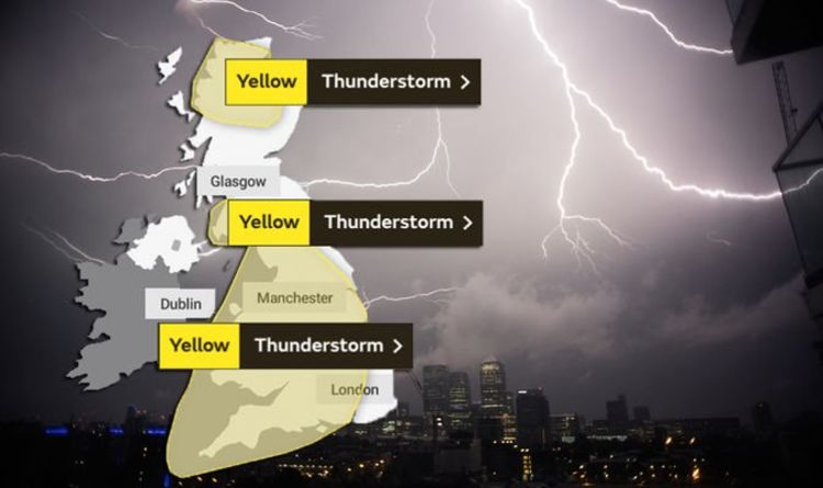 Met Office issue severe weather warning for thunderstorm