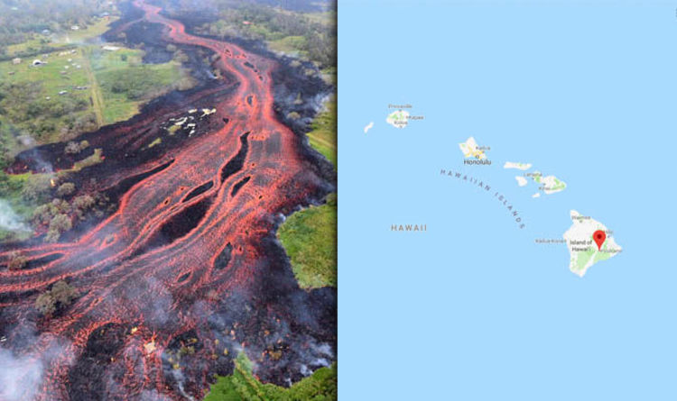 Hawaii Map Lava.Hawaii Volcano Lava Flow Update Latest Map Of Affected Area As