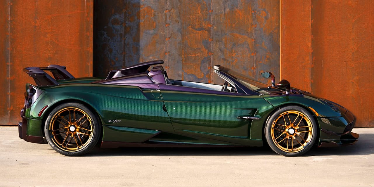 This Purple Green And Red Pagani Huayra Bc Roadster Is A Work Of Art