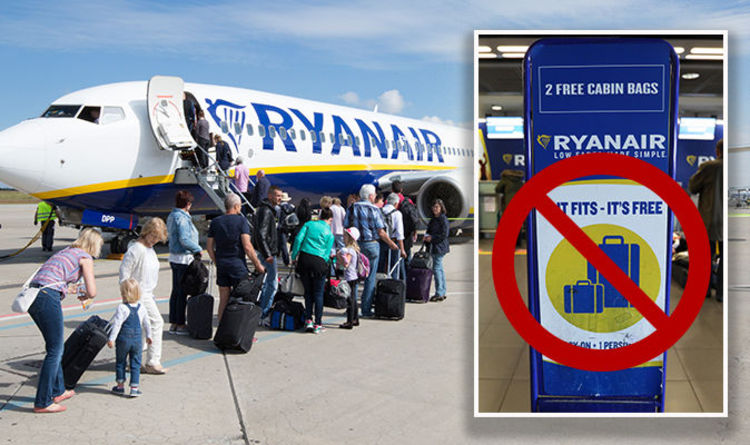 Ryanair Hand Luggage Airline Ss Two Bag Allowance In Baggage Rules Overhaul Travel News Express Co Uk