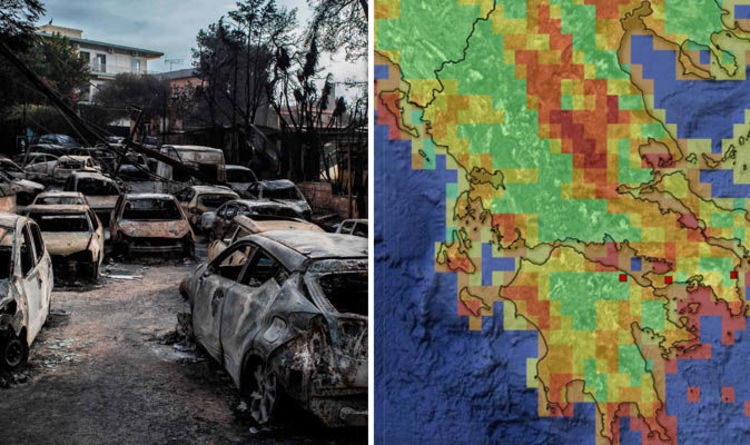 Greece Fires Map Latest Have Wildfires Spread In Greece And Are