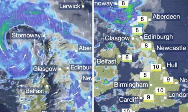 Snow Storm Weather Map.Bbc Weather Forecast Storm Deirdre Set To Batter Uk With Snow And