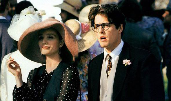 Kristin Scott Thomas And Hugh Grant In The Hit Comedy Four Weddings A Funeral Channel 4
