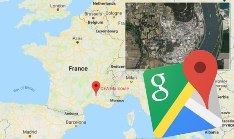 Google Maps: Google Earth blurs out France nuclear site ...