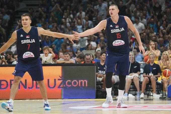 Resultado de imagem para jokic and bogdanovic serbia