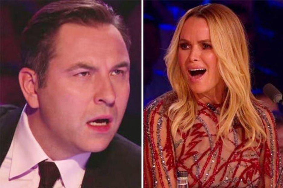 BGT judges Amanda Holden and David Walliams clash heads over exes