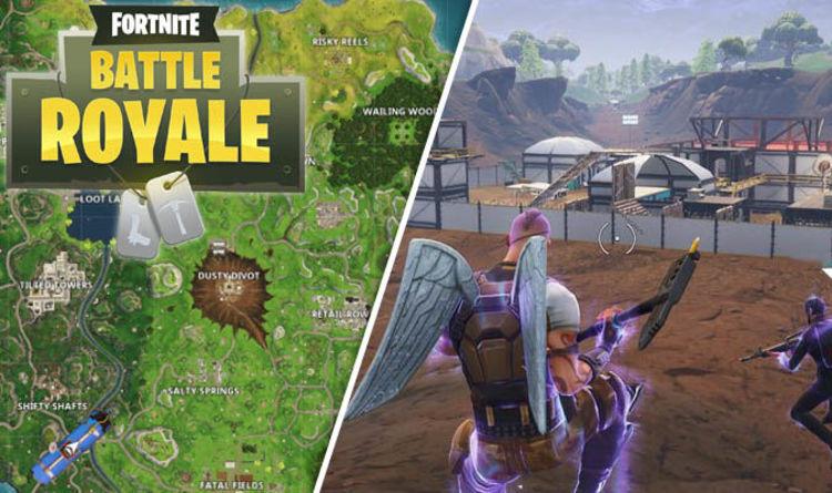 fortnite season 4 map update meteor hits dusty depot new area risky reels revealed - season 4 map in fortnite