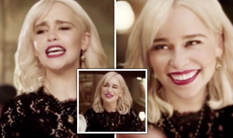 9957018eeab Emilia Clarke  Game of Thrones star showcases incredible singing voice in  sexy D G advert