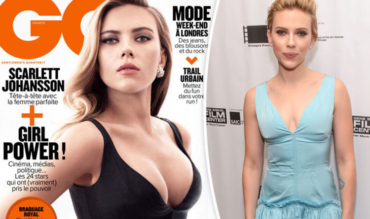Scarlett Johansson's ample assets spill out of boob-baring dress on VERY  steamy GQ cover