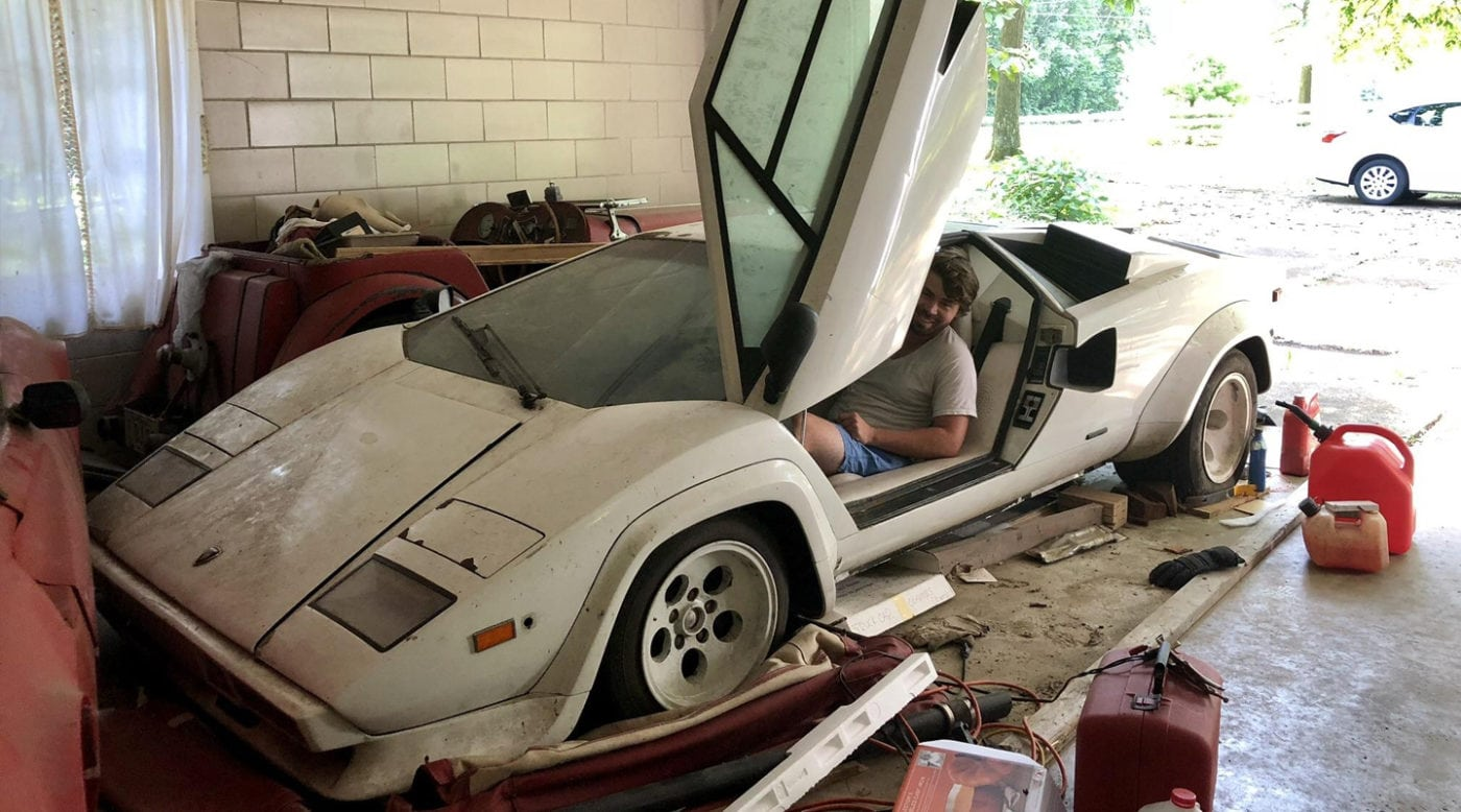 Barn Find Cars >> Lamborghini Countach Barn Find In Grandma S Garage