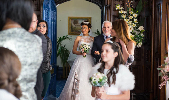 Michelle Walks Down The Aisle