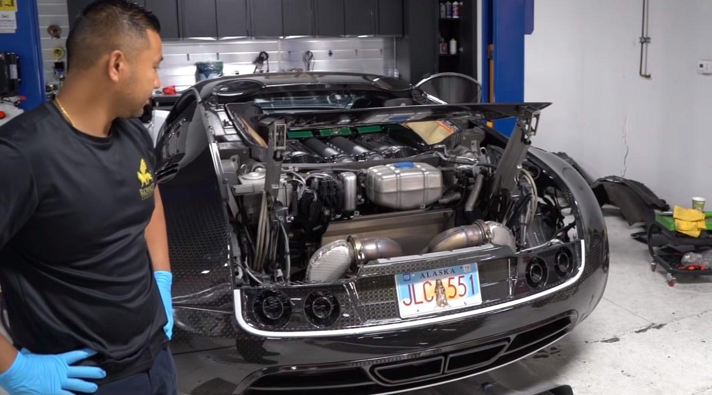How To Do The 21k Bugatti Veyron Oil Change