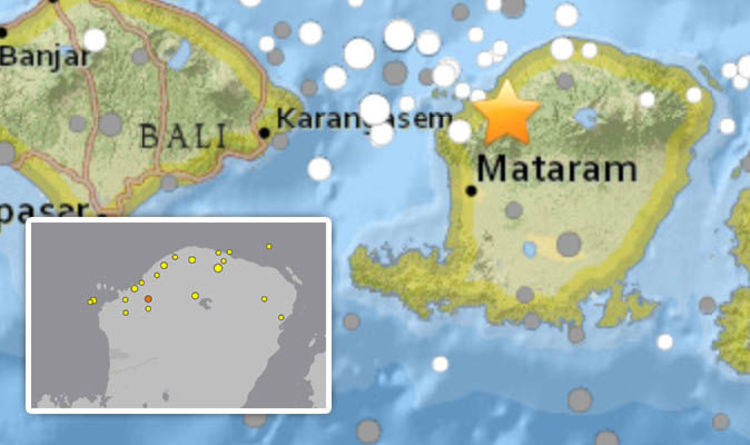Bali earthquake live maps lombok hit by seventh quake today more bali earthquake live maps lombok hit by seventh quake today more than 20 hit indonesia world news express gumiabroncs Images