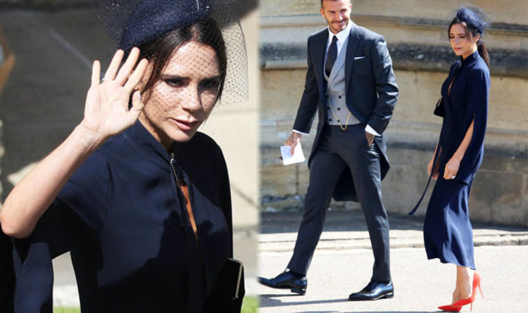 Victoria Beckham At Royal Wedding Wearing A Dress With David Express Co Uk