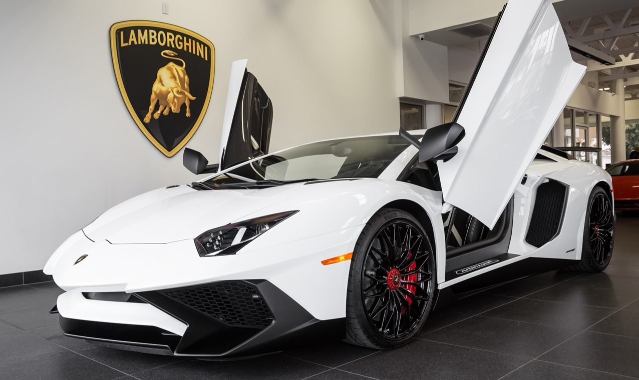 Bianco Monocerus Lamborghini Aventador Sv For Sale
