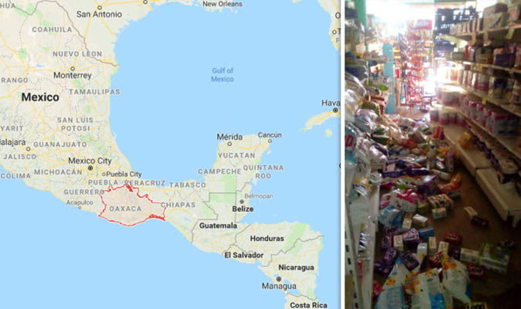 mexico earthquake map where is oaxaca will there be another earthquake world news expresscouk